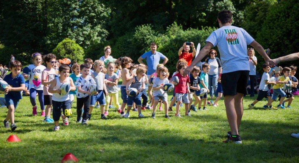 Festa di Runbabyrun ai Giardini Montanelli