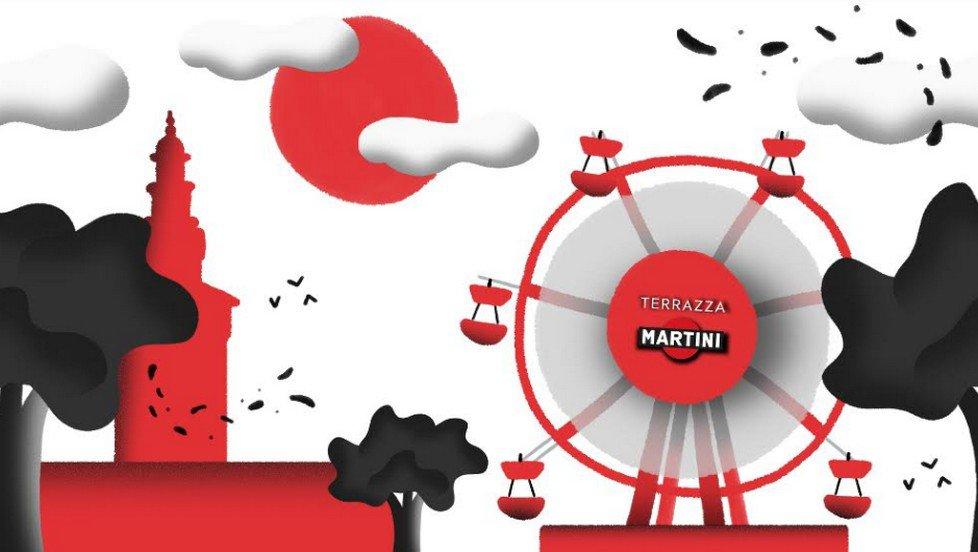 Terrazza Martini Temporary in piazza del Cannone a Milano ...