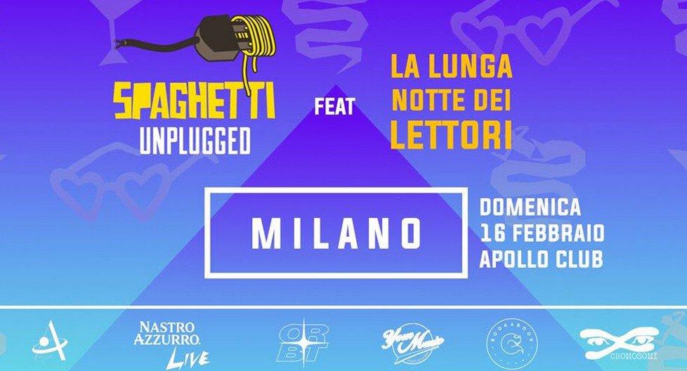 All'Apollo bookabook e Spaghetti Unplugged insieme per La Lunga Notte dei Lettori a Milano