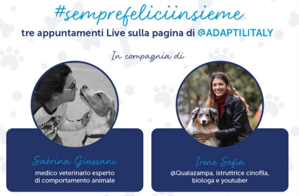 Adaptil organizza il ciclo di eventi online #SempreFeliciInsieme