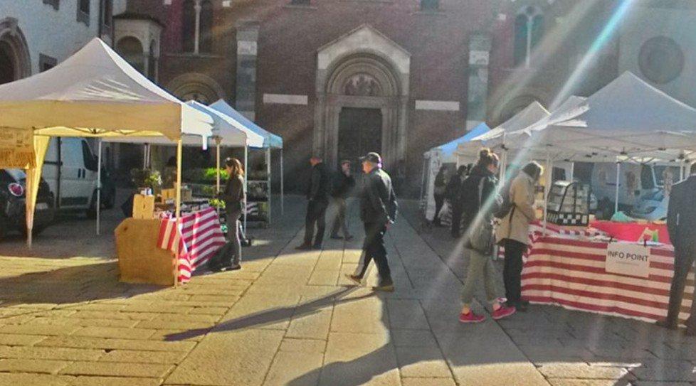 Mercato contadino il buono in tavola in piazza sant for Piazza sant eustorgio