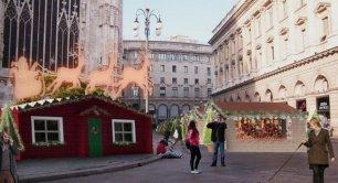 Mercatino di Natale in piazza Duomo