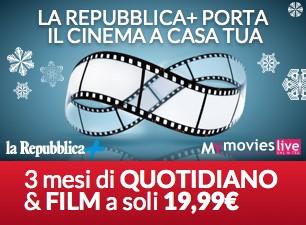 Per te 3 mesi di sfoglio su Repubblica+ e  3 di film con Mymovies