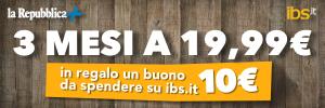 Con Repubblica+ e IBS 3 mesi di notizie a 19,99