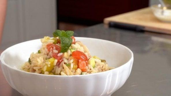 Ricette per dimagrire mangiando riso: insalata fredda e dolce al latte