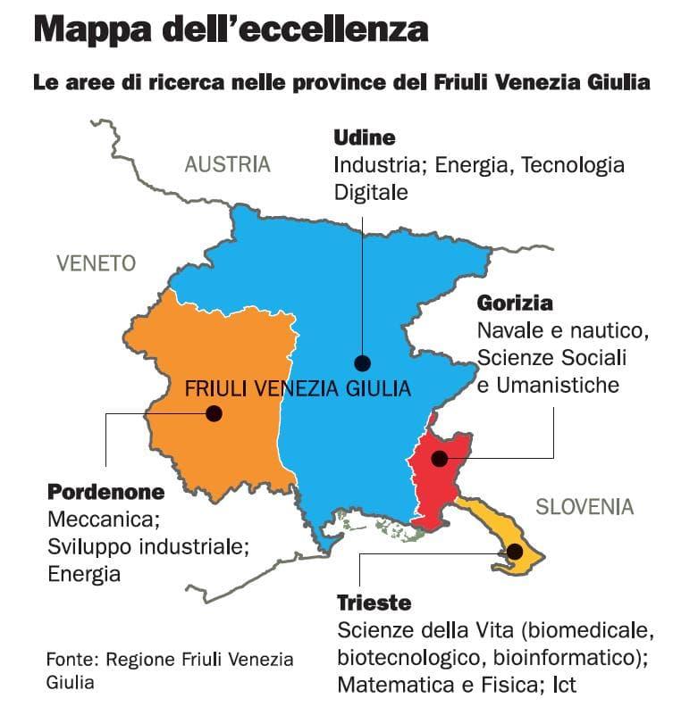 Cartina Fisica Del Friuli Venezia Giulia.In Friuli Venezia Giulia L Hi Tech E Senza Confini L Espresso