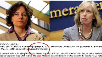 """Ft   / """"Ministro Carrozza faccia qualcosa""""  amarcord con gaffe   del senatore di Fi"""