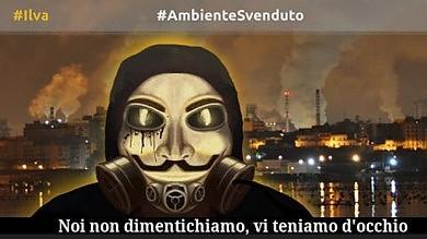 """Ilva, Anonymous  viola il sito della Regione  """"Vi teniamo d'occhio""""/ Ft"""