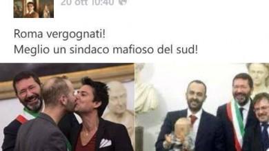 """Il consigliere su Fb """"Le nozze gay di Marino?  Meglio un sindaco  mafioso del Sud""""-  I post"""