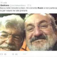 Emiliano e Razzi alla sagra, il selfie è un autogol:<br />pioggia di critiche sui social