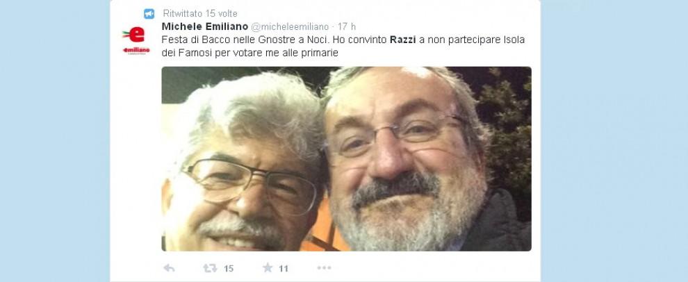 Emiliano e Razzi alla sagra, il selfie è un autogol: pioggia di critiche sui social