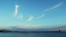 Lo scatto  - E le nuvole  scrivono Bari nel cielo