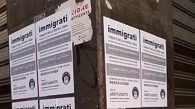 """""""Immigrati, tornatevene a casa""""  cartelli shock al quartiere Libertà"""