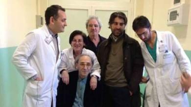 Franco Battiato lascia l'ospedale -  Foto      Video   -  La caduta