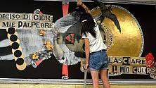 Madame in Ateneo   firma il nuovo murale