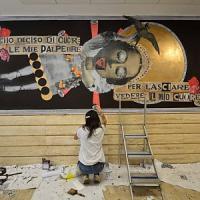La street art all'Università di Bari con Madame: