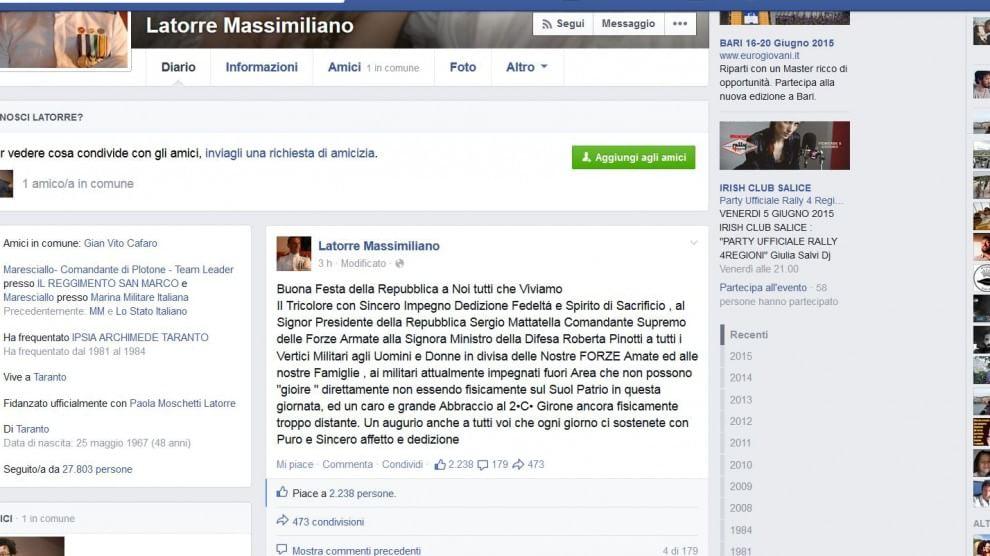 Mar Latorre Su Fb Buon 2 Giugno Capitano Girone
