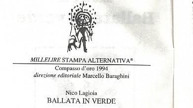 Immagini  L'opera prima  di Lagioia 'Ballata in verde' è uscito nel 1996