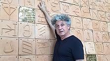 I geroglifici di Grillo nel parco dell'arte