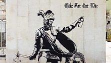La street art di Rizek  spray contro la guerra