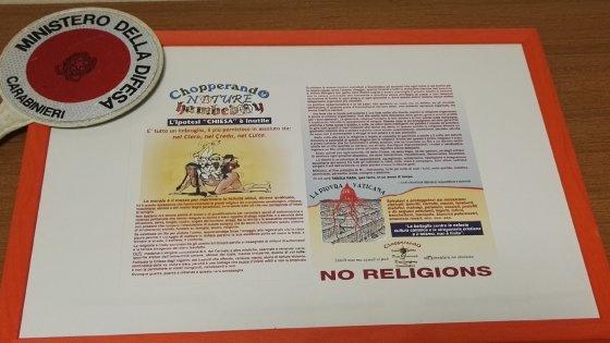 Leuca, volantini blasfemi sul sagrato della basilica: denunciati autore e tipografi