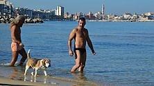 Bari, venti gradi a febbraio: in spiaggia sembra estate