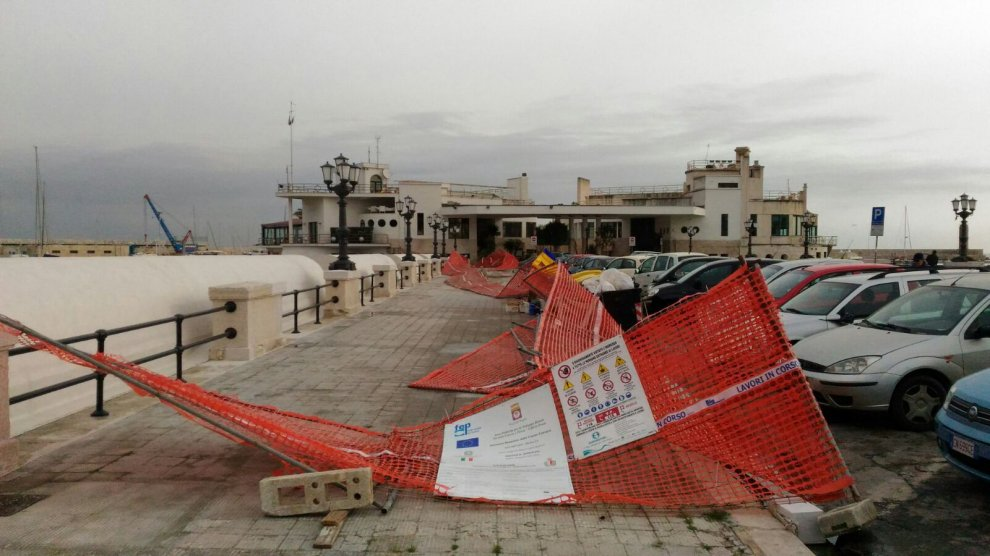 Maltempo, lo scirocco sulla Puglia: a Bari 50 interventi