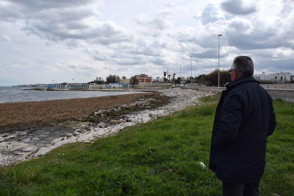Bari, legno e paglia in mare: un giallo lungo la costa