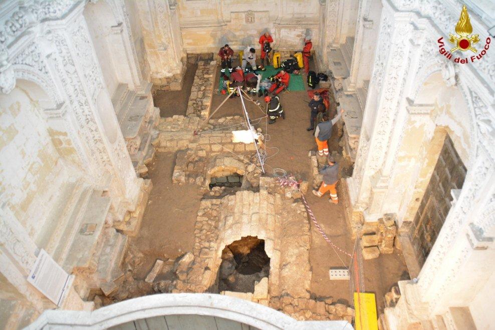 Lecce, un tesoro nascosto sotto l'ex ospedale in centro