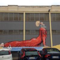 Bari, Maupal dipinge san Nicola dopo il Super Pope