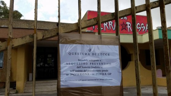 Terra Rossa, eseguito il sequestro: dopo due mesi chiuso lo spazio sociale