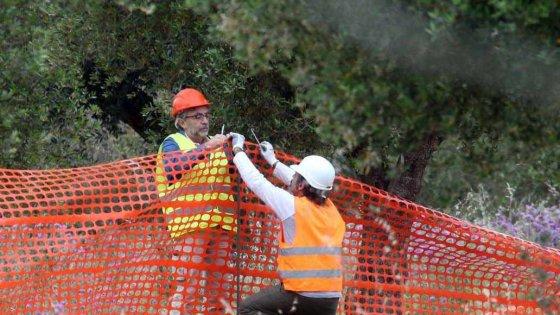 Gasdotto, arriva la Finanza sul cantiere Tap: foto e rilievi dopo l'avvio dei lavori a Melendugno