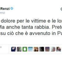 Scontro tra treni in Puglia, da Renzi a Pausini: il cordoglio di politici e star