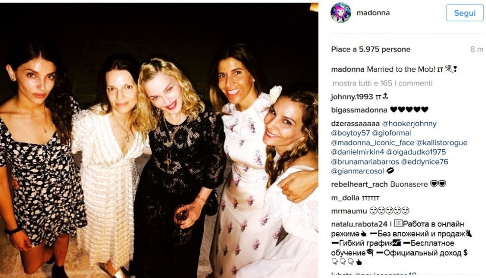 Madonna stregata dalla Puglia: le foto su Instagram