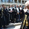 Foto  Al tribunale di Bari magistrati e avvocati  in sit-in per la Turchia