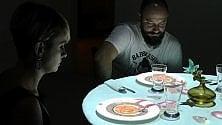 Video mapping a cena lo show è nei piatti