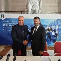 Bari, il ct Ventura presenta l'amichevole Italia-Francia: