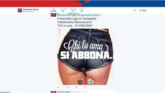 """""""E' sessista"""": rivolta social in Salento per la campagna abbonamenti del Casarano calcio"""