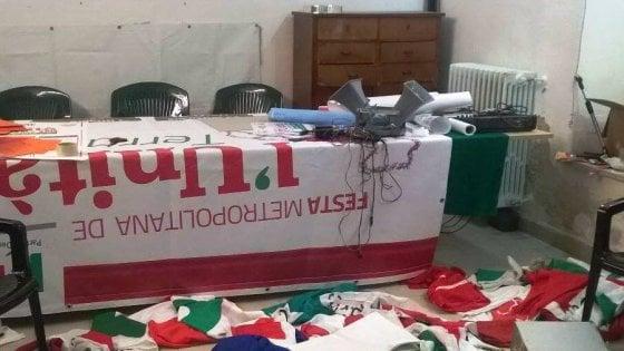 Pd, bandiere a pezzi e svastiche: sede di Altamura devastata nel giorno della Festa dell'Unità