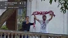 Milano, c'è la Google car spunta la sciarpa del Bari