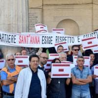 Bari, sit-in dei residenti del quartiere Sant'Anna: