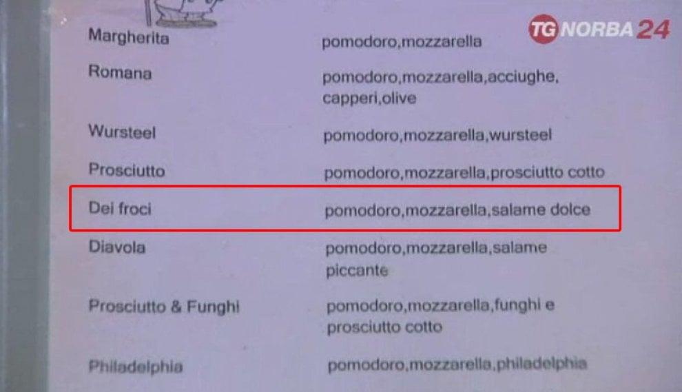 Omofobia e proteste a Bari: nel menu la pizza 'dei froci'