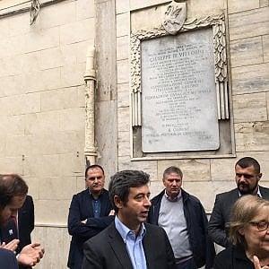 """Foggia, il ministro Orlando sulla tomba di Di Vittorio: """"Omaggio dopo legge contro il caporalato"""""""