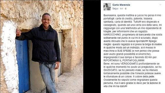 Lecce, ambulante marocchino trova portafogli e percorre 40 chilometri per restituirlo al proprietario