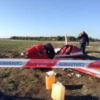 Lecce, precipita ultraleggero: due feriti gravi. Stavano testando un nuovo aereo