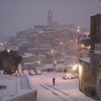 Matera sotto la neve: il reportage d'autore fra i Sassi