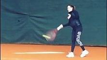Tennis, Flavia Pennetta si allena con il pancione
