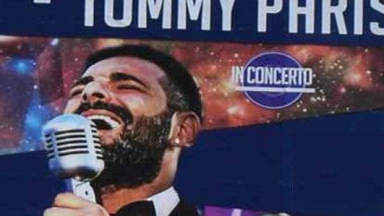 """Putignano, annullato il concerto di Tommy Parisi. Il figlio del boss: """"Discriminato"""""""