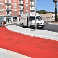 Bari, la pista ciclabile sulla rotatoria a San Marcello