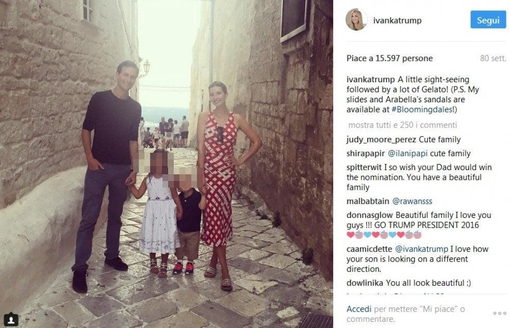 Ivanka Trump, il diario delle vacanze in Puglia - 1 di 1 - Bari ...